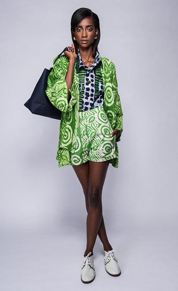 Fashion Rising Collection ODLR Hand Batik Terry Cloth Kimono - Lime