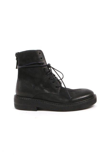 Marsèll Parrucca Combat Boot - Dark Navy Suede