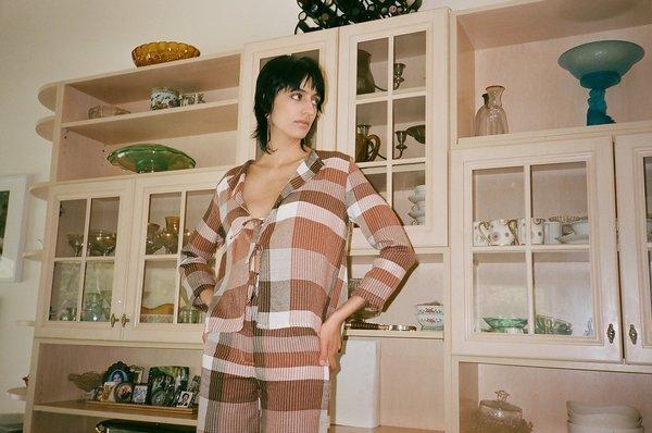 Mozh Mozh Soha Tie Shirt - Checkered