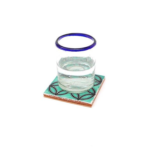 Made Solid Talavera Tile Coaster Set - Circles