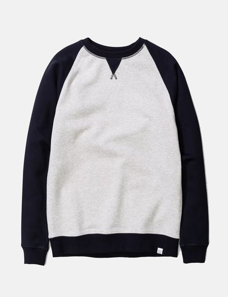 Norse Projects Ketel Contrast Sweatshirt - Dark Navy Blue
