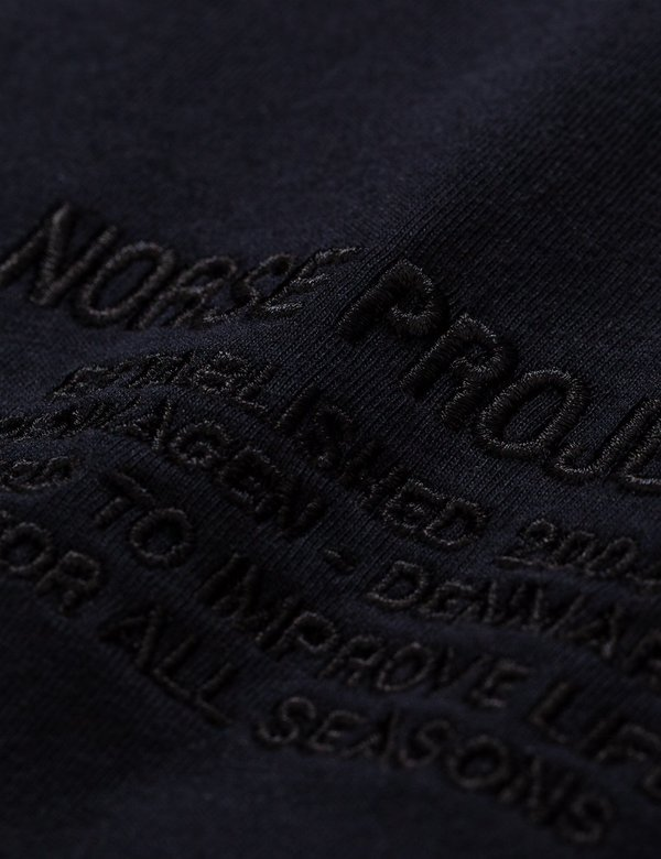 Norse Projects Niels Centre Logo T-Shirt - Black