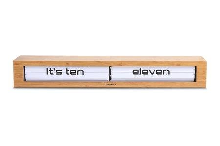 Cloudnola Texttime Bamboo Flip Clock