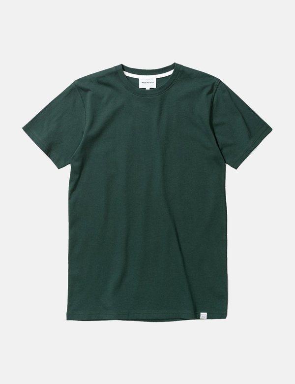 Norse Projects Niels Standard T Shirt - Bottle Green