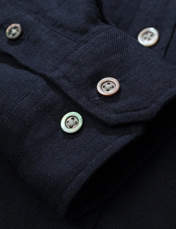 Norse Projects Osvald Button Down Shirt - Dark Navy Blue
