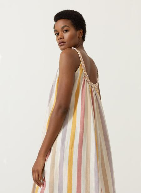 Seek Collective Athens Dress - Tuscan Stripe