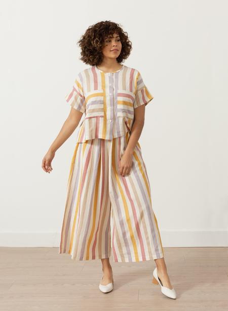 Seek Collective Megan Shirt - Tuscan Stripe