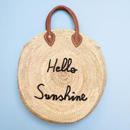 "Poolside Bags L'Enveloppe Le Cercle ""Hello Sunshine"" Straw Bag"