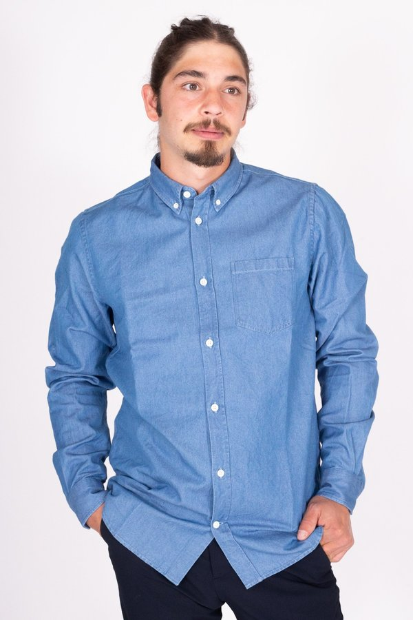 Norse Projects Anton Denim Shirt - Stone Washed