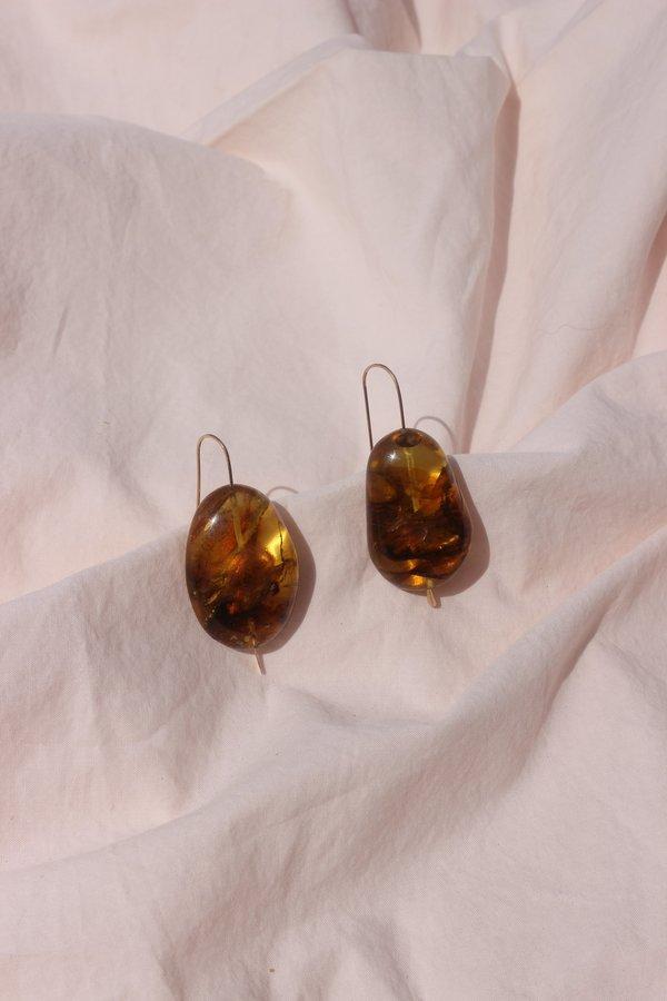 Mary MacGill stone drop earrings - amber