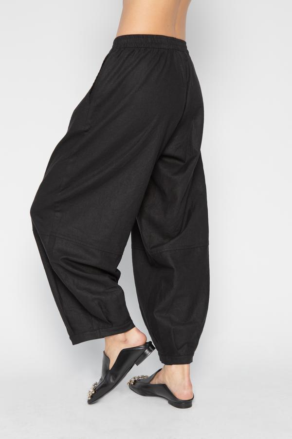 The Celect Linen Balloon Pant - Black