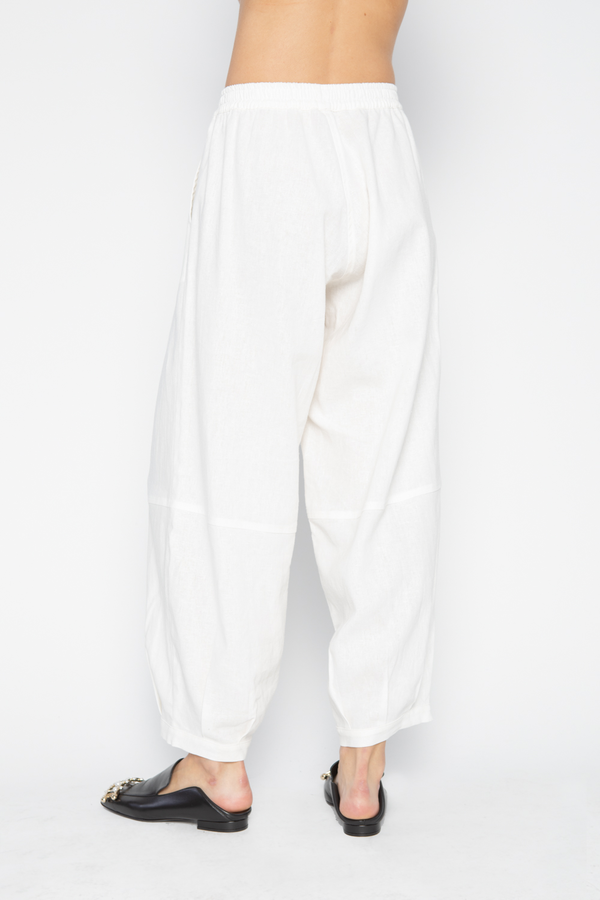 The Celect Linen Balloon Pant - ivory