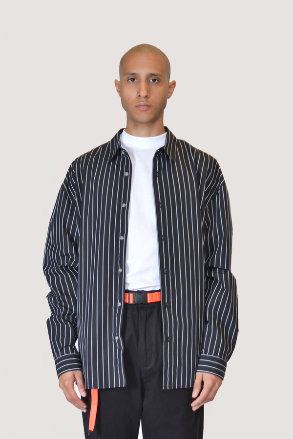 The Celect Striped Woven - Black/White Stripes