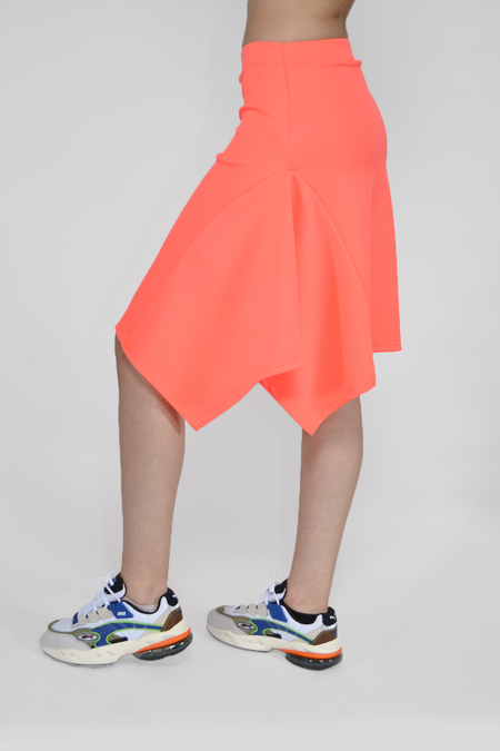 The Celect Volume Skirt - Neon Coral