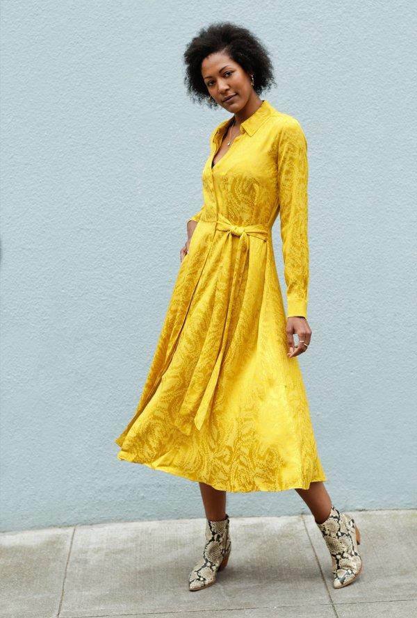 3560663b Stine Goya Baily Dress - mustard | Garmentory