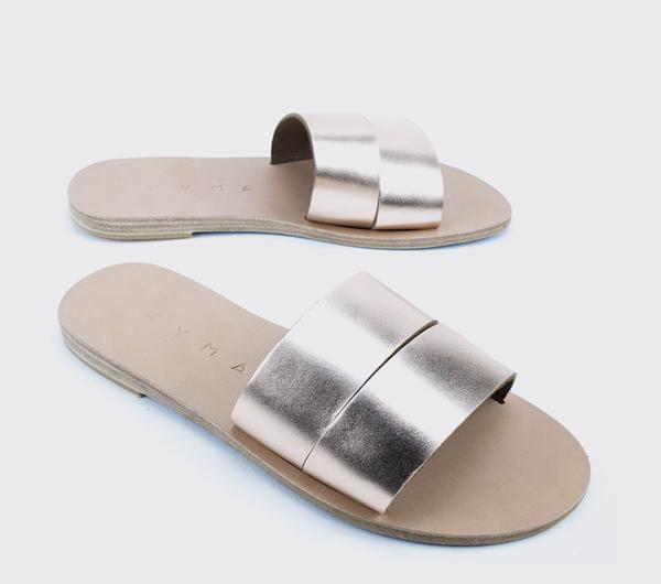 KYMA Kithira Greek Sandals - Bronze/Natural