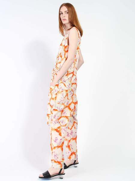 Anntian Floral Overall - Orange Floral