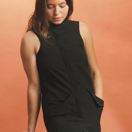 Max.Tan Preacher's Jumpsuit - Black