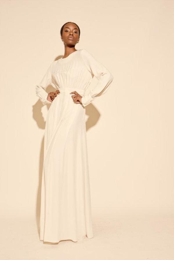 Kamperett Harper Silk Dress - Ivory