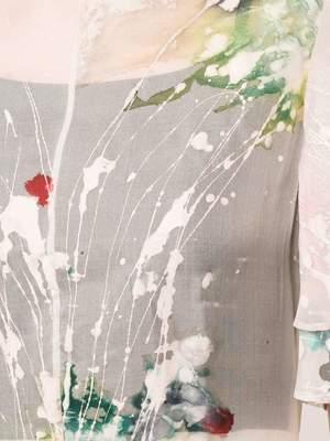 Kamperett LEONORA SILK ORGANZA DRESS - HAND PAINTED