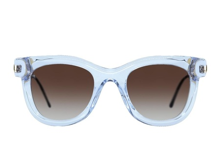Thierry Lasry Nudity EYEWEAR - crystal with black etched gold temples