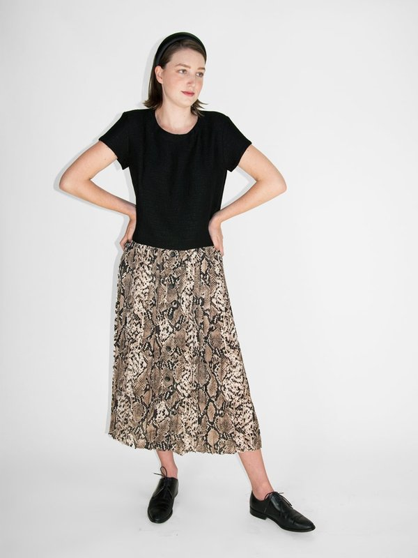 758ecdd34ad012 &Another Penelope Skirt - Snakeskin Print | Garmentory