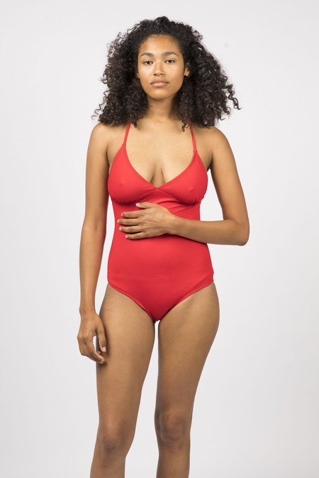 Botanica Workshop Sorana Recycled Nylon Swimsuit - Scarlet