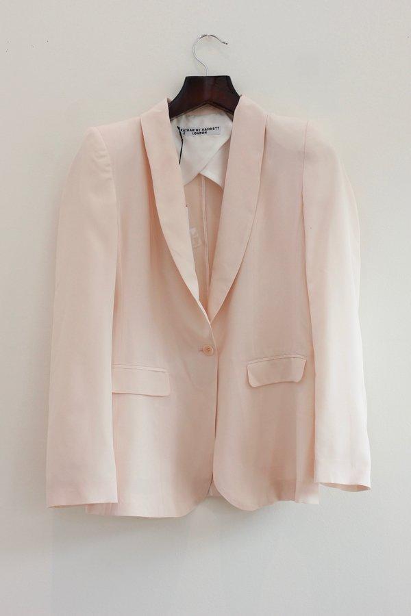 Katharine Hamnett Sofia Silk Blazer - pale pink