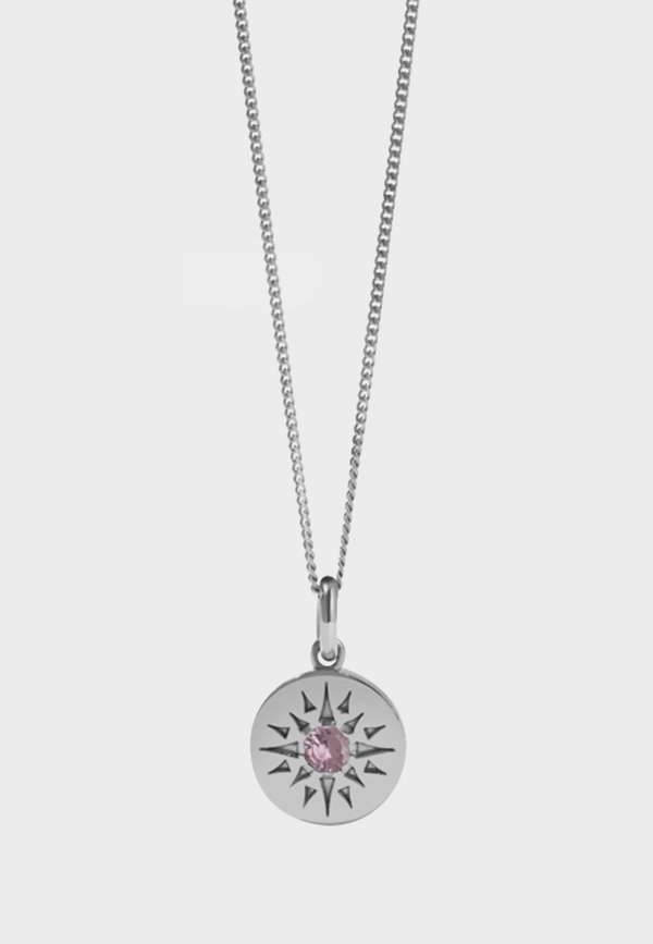 Meadowlark Medium Ursa Necklace - silver/pink tourmaline