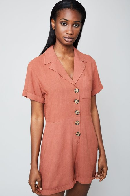 Native Youth Knowles Romper - Terracotta