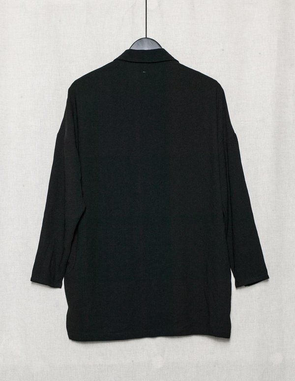 Berenik BLOUSE LONG SLEEVES CONCEALED BUTTONS - TRIACETATE black