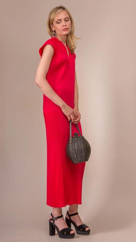 Issey Miyake Pleats Please Dress - Raspberry