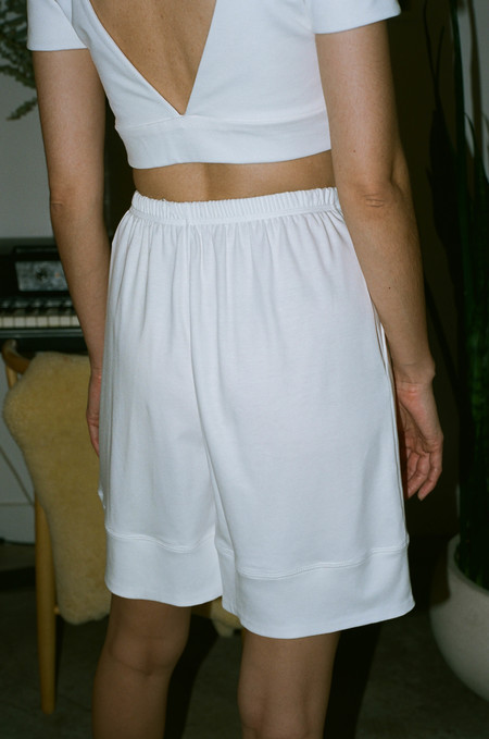 Suzanne Rae Boxing Shorts - White