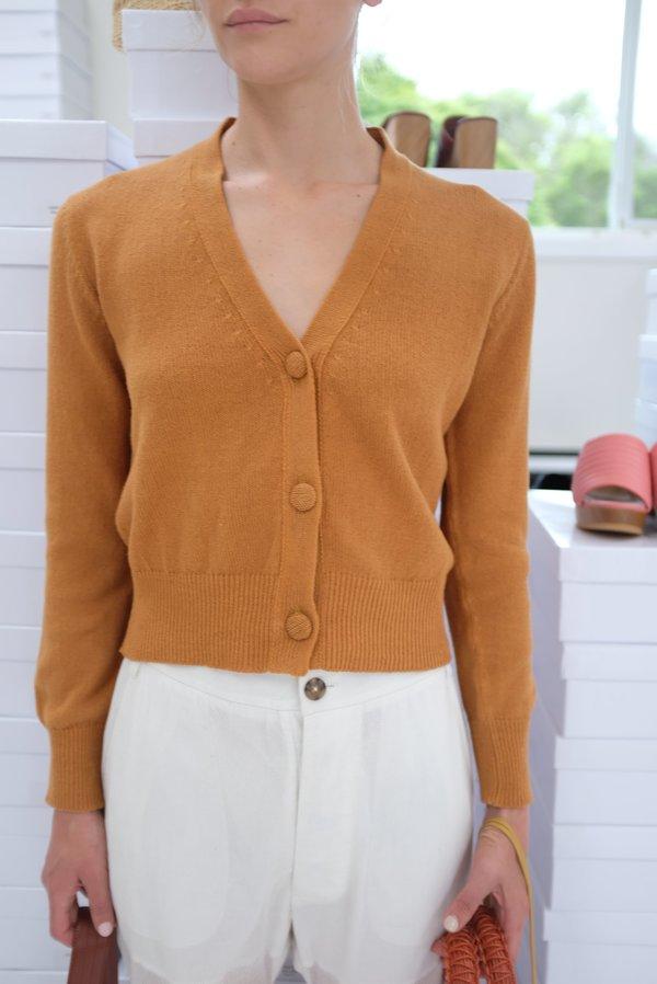 Beklina Cotton Knit Cardigan - Ginger