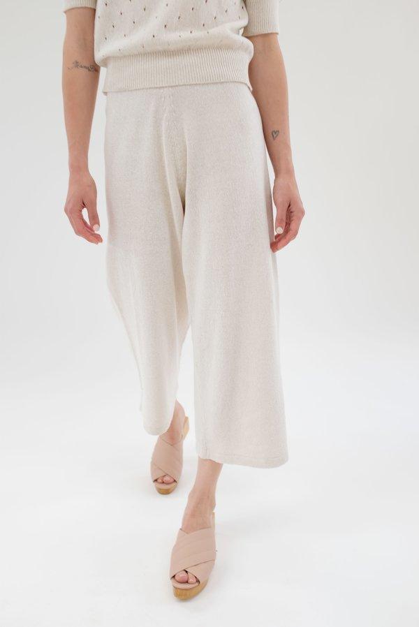Beklina Culotte Knit Trouser - White