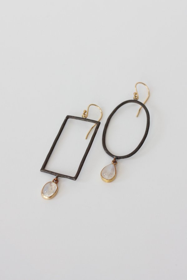 Margery Hirschey Mismatch Silver Earrings