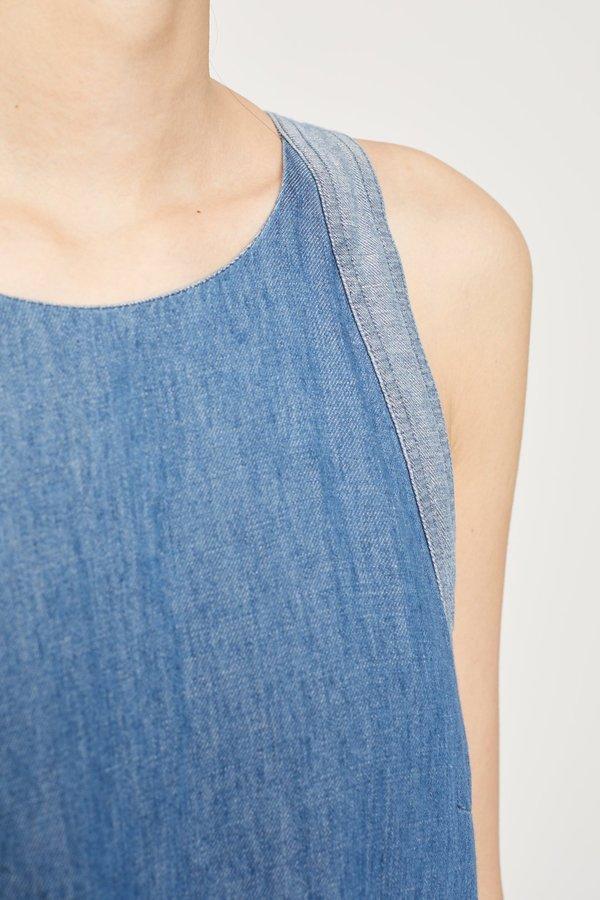 Closed Denim Jumpsuit - mid blue