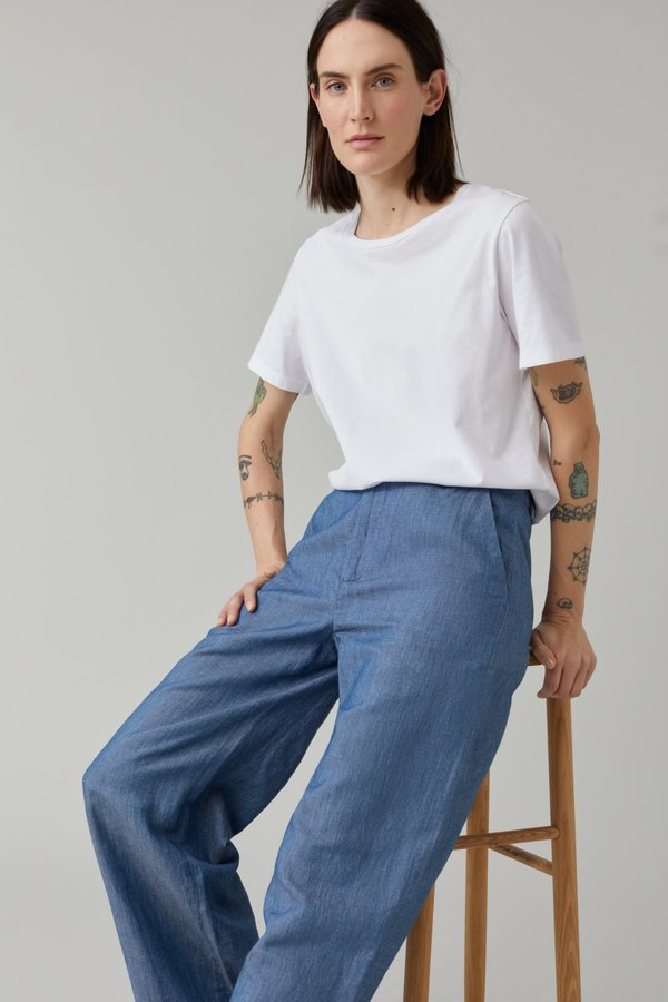 Closed Lyn Twill Pants - mid blue