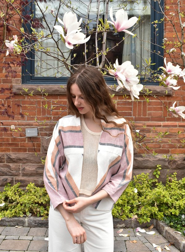 Amanda Moss Margot Jacket - Rose Tangerine