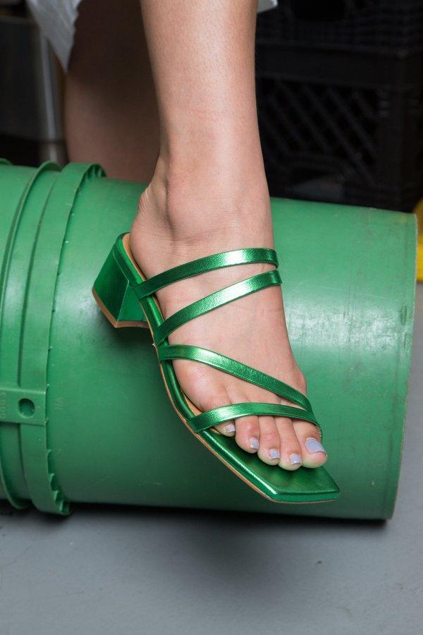 Miista Eva Shoe - metallic green
