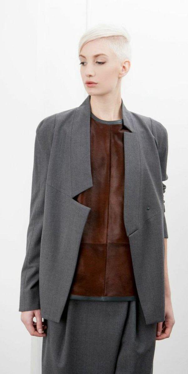 SCHAI Atomic Stretch Wool Jacket - Granite