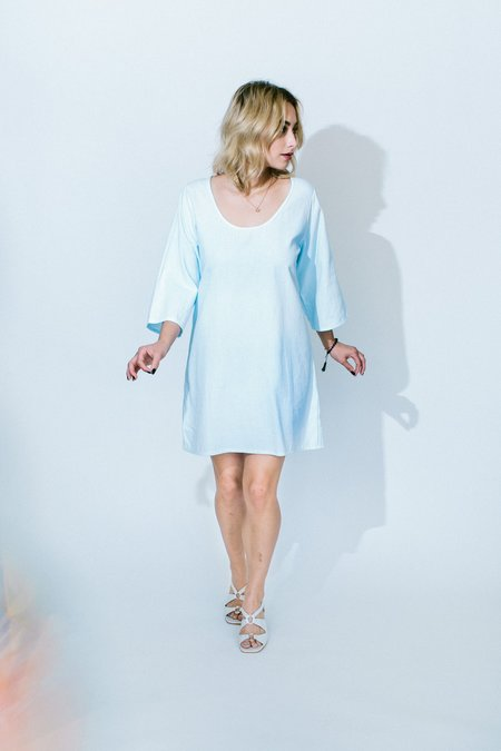 Golondrina of Mexico rio dress - pale blue
