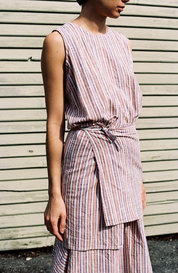 Caron Callahan Marianne Dress Peach Garmentory
