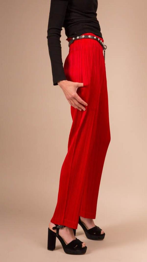Issey Miyake Pleats Please Trousers - Red