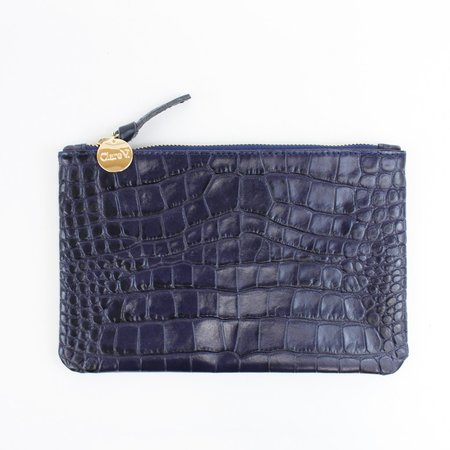 Clare V. Wallet Clutch - Croc