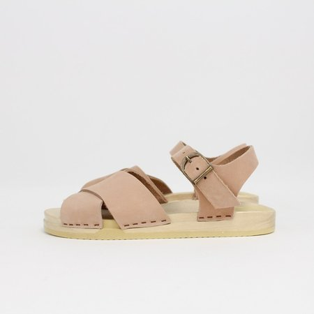 No.6 Coco Cross Front Sandal - Peach/Pink
