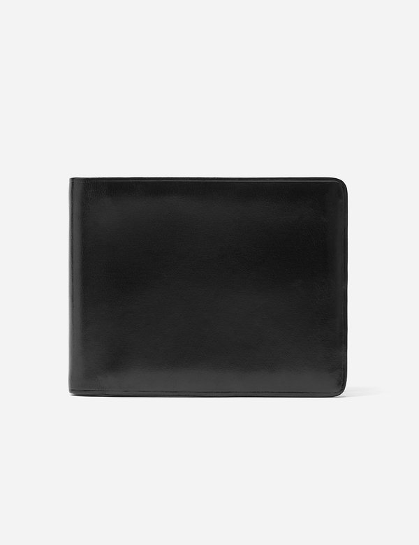 Il Bussetto Bi-Fold Wallet (Leather) - Black