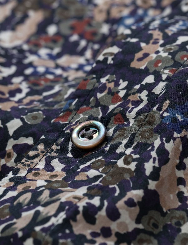 Norse Projects Carsten Short Sleeve Liberty Print Shirt - Ivy Green