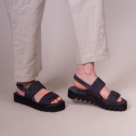 Peserico Platform Sandals - Navy