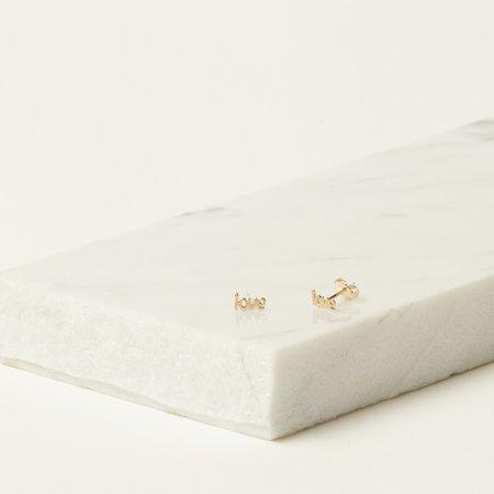 Iwona Ludyga Design Love Earrings - 14K Gold